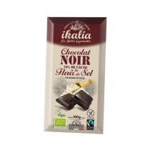 Ikalia - Chocolat noir 70% à la fleur de sel de Guérande - 100g