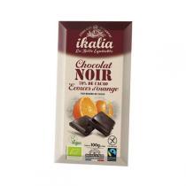 Ikalia - Chocolat noir 70% et écorces d'orange - 100g