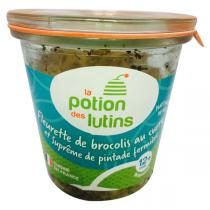 La Potion des Lutins - Brocolis au curry et pintade fermière 12+ Bio 200g