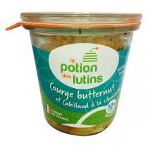 La Potion des Lutins - Courge butternut et cabillaud ciboulette 12+ Bio 200g