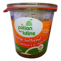 La Potion des Lutins - Courge butternut et cabillaud ciboulette 9+ 180g
