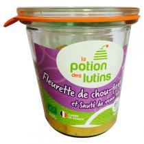 La Potion des Lutins - Fleurette de chou fleur Sauté de veau au thym 6+ Bio 160g