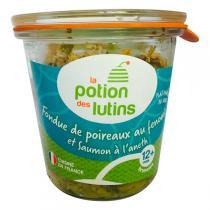 La Potion des Lutins - Fondue de poireau et fenouil au saumon à l'aneth 12+ Bio 100g