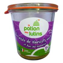 La Potion des Lutins - Fricassée Haricots vert Porc au romarin 6+ Bio 160g