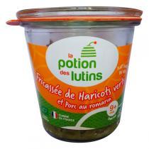 La Potion des Lutins - Fricassée Haricots vert Porc au romarin 9+ Bio 180g