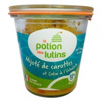 La Potion des Lutins - Mijoté de carotte et colin à l'échalote 12+ 100g