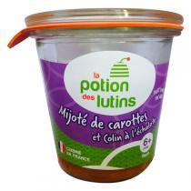 La Potion des Lutins - Mijoté de carotte et colin à l'échalote 6+ 100g