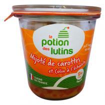 La Potion des Lutins - Mijoté de carotte Colin à l'échalote 9+ Bio 180g