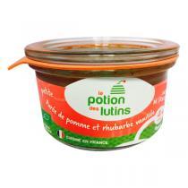 La Potion des Lutins - Petite purée de pomme et rhubarbe vanillée Bio 100g