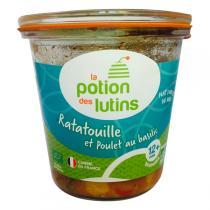 La Potion des Lutins - Ratatouille et poulet au basilic 12+Bio 200g