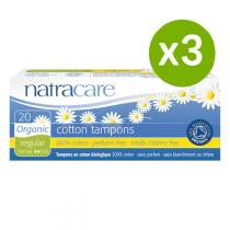 Natracare - Lot de 3 x Tampons Normal sans applicateur x20