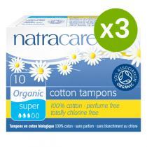 Natracare - Lot de 3 x Tampons Super sans applicateurs x10