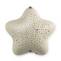 Pabobo - Projecteur étoiles micro usb beige dans les bois