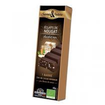 Saveurs & Nature - Barre de chocolat noir 70% - Nougat de Montélimar 45g