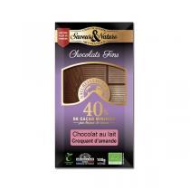 Saveurs & Nature - Chocolat au lait au croquant d'amande - 100g
