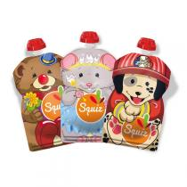 Squiz - Pack 3 gourdes squiz «SMILE carnaval» 130ml