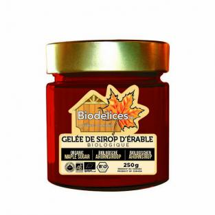 Gel e de sirop d 39 rable bio canada 250g biod lices for Acheter une maison au canada conditions
