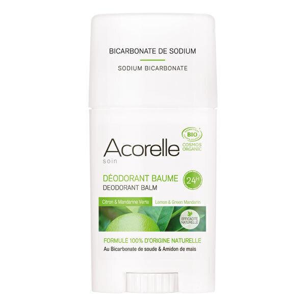 Acorelle - Deodorant Baume Citron Mandarine verte - Stick de 40 g