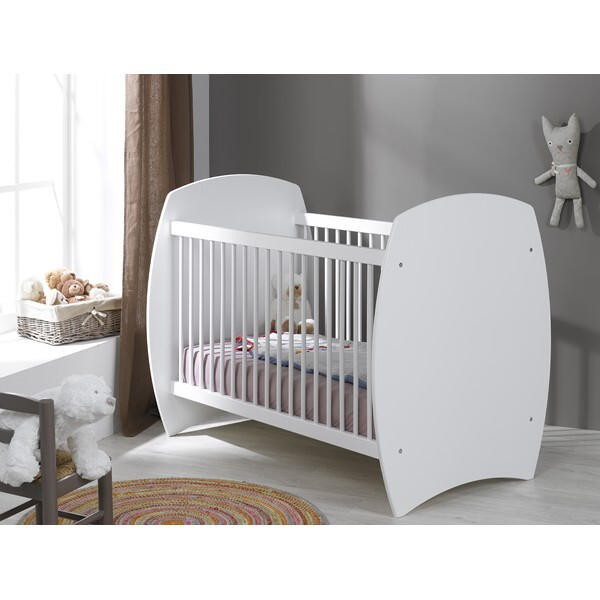 bebe-provence - Lit bébé Medea Blanc 70 x 140 cm