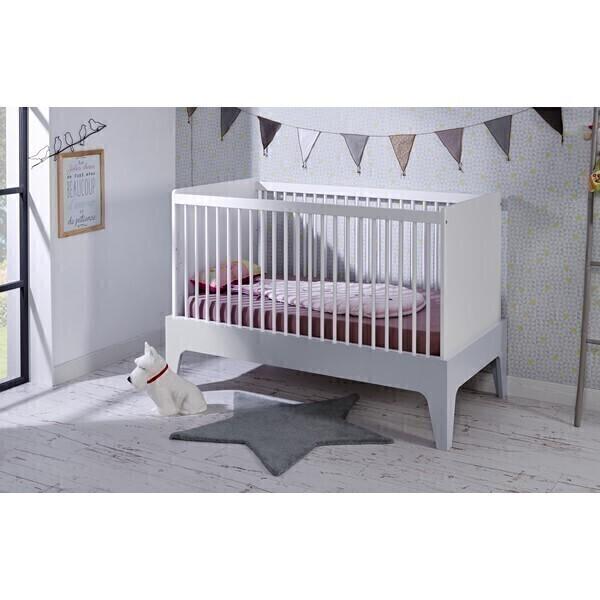 lit b b paris 70x140cm blanc gris b b provence la r f rence bien tre bio b b. Black Bedroom Furniture Sets. Home Design Ideas