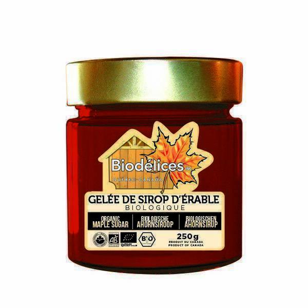 Biodélices - Gelée de sirop d'érable bio Canada - 250g