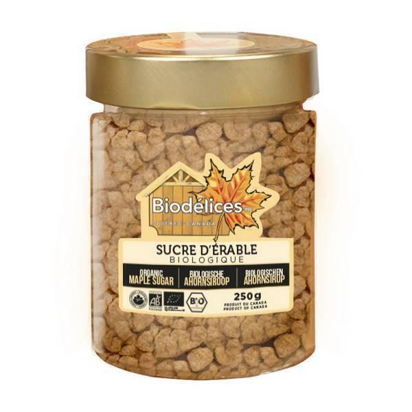 Biodélices - Sucre gros d'érable bio Canada - 250g