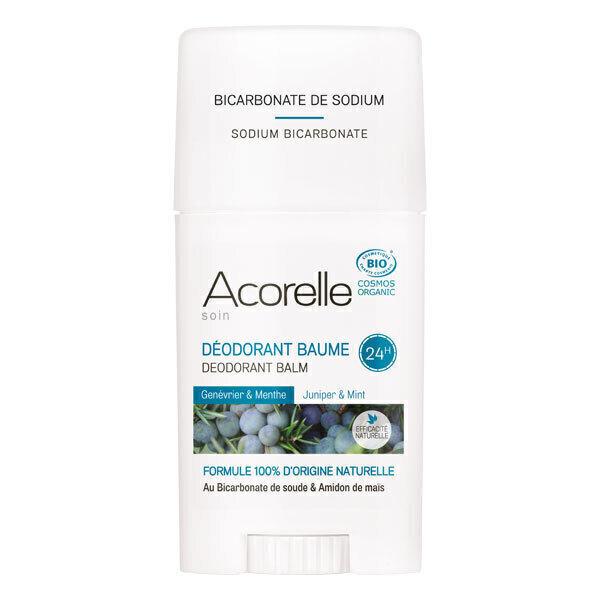 Acorelle - Deodorant Baume Genevrier Menthe - Stick de 40 g