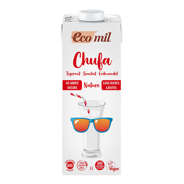 EcoMil - Chufa Boisson au souchet sans sucres ajoutés bio 1L
