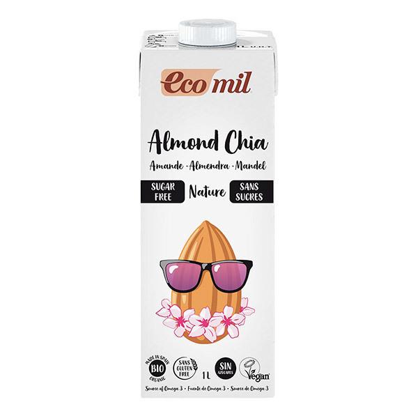 EcoMil - Lait amandes sans sucres chia bio 1L
