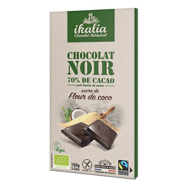 chocolat noir 70 sucre de fleur de coco 100g ikalia acheter sur. Black Bedroom Furniture Sets. Home Design Ideas