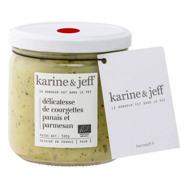 Karine & Jeff - Mousseline  de courgettes, panais et parmesan 320g
