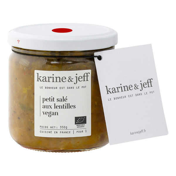 Karine & Jeff - Petit salé aux lentilles vegan 350g
