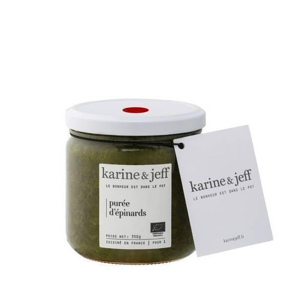 Karine & Jeff - Purée d'épinards 350g