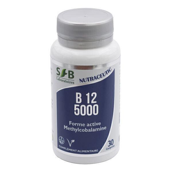 Laboratoires SFB - Vitamine B12 Méthylcobalamine 5000µg x 30 Comprimés