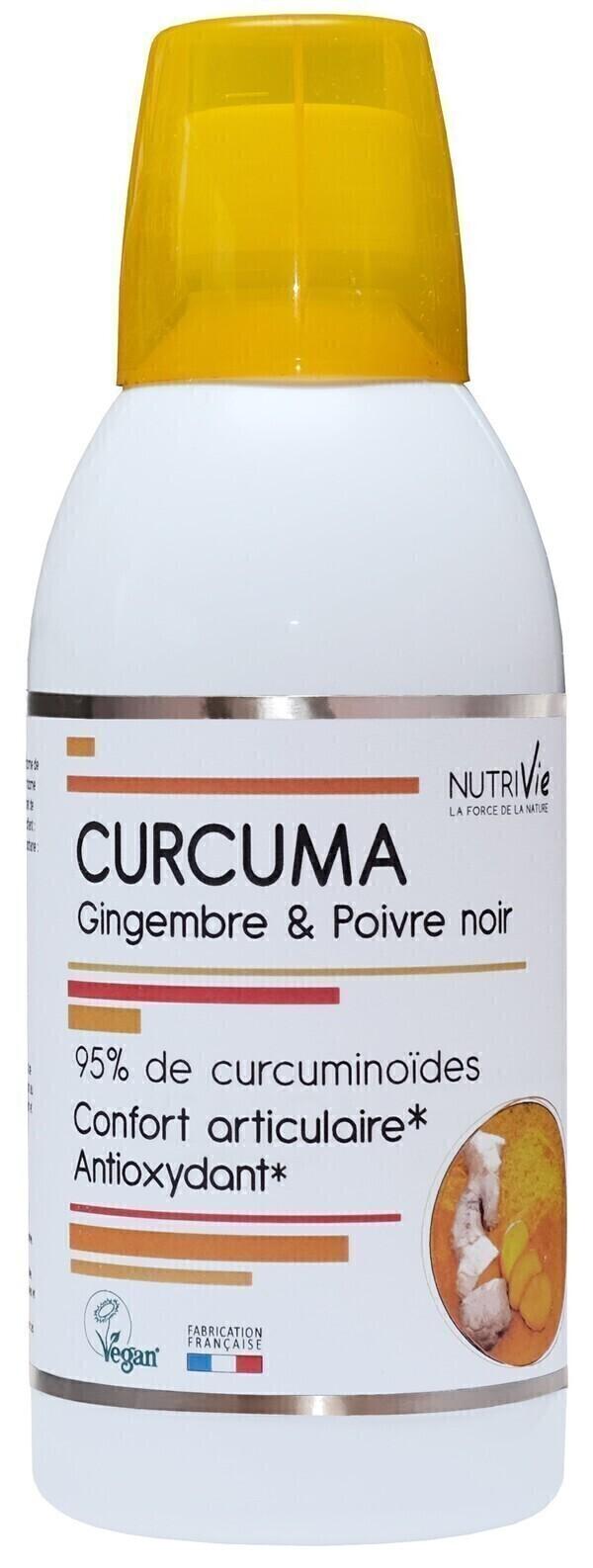 NutriVie - Curcuma, Gingembre & Poivre Noir 500mL