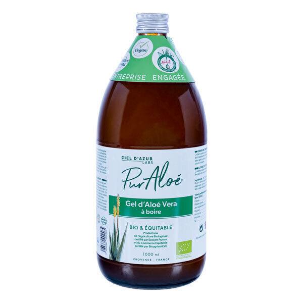 Pur Aloé - Lot de 2 x Gel d'Aloe Vera à Boire Bio Pasteurisé - 2 x 1L