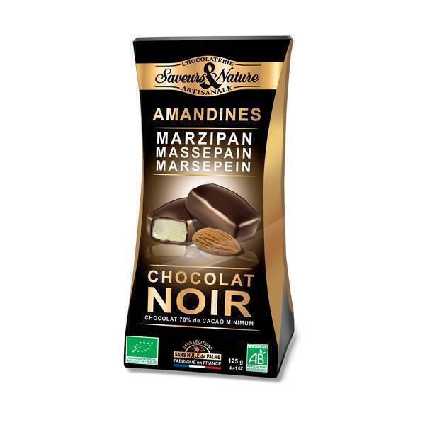Saveurs & Nature - Amandines chocolat noir 125g