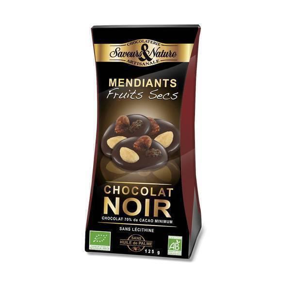 Saveurs & Nature - Mendiants Chocolat noir et fruits secs - 125g