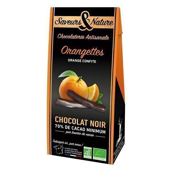 Saveurs & Nature - Orangettes confites Chocolat noir 125g