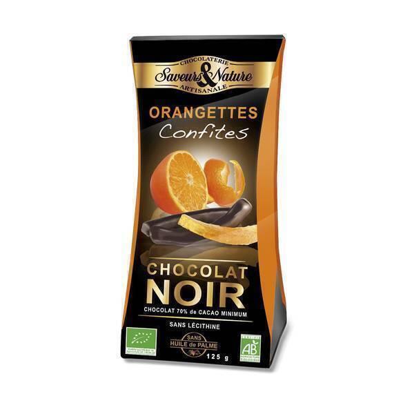 orangettes confites chocolat noir 70 125g saveurs nature acheter sur. Black Bedroom Furniture Sets. Home Design Ideas