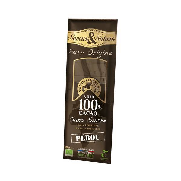 chocolat noir 100 p rou sans sucre 100g saveurs nature acheter sur. Black Bedroom Furniture Sets. Home Design Ideas