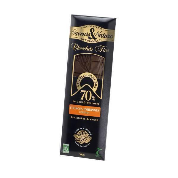 chocolat noir 70 et corces d 39 orange 100g saveurs nature acheter sur. Black Bedroom Furniture Sets. Home Design Ideas