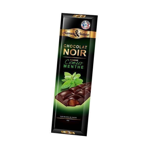 chocolat noir 70 fourr e menthe poivr e 80g saveurs nature acheter sur. Black Bedroom Furniture Sets. Home Design Ideas