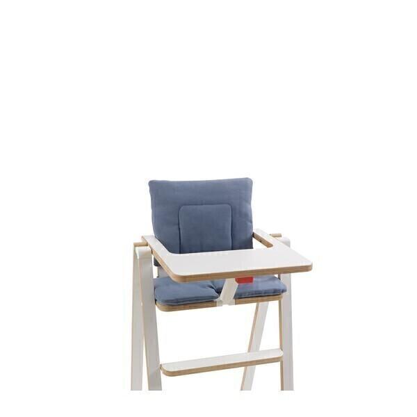 Coussin pour chaise haute supaflat blue velvet acheter - Coussins ronds pour chaises ...