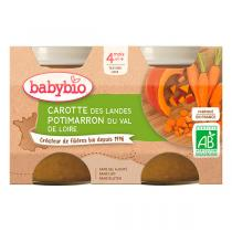 Babybio - Babybio Carotte Potimarron, dès 4 mois - 2 x 130g