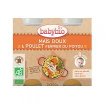 Babybio - Menu Maïs doux & Poulet fermier 8 mois 2 x 200g