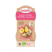 Babybio - Pack 2 bols, Pomme-Poire-Vanille,  P'tits Fruits , 2x120g