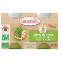 Babybio - Pomme de terre Petits pois dès 4 mois 2x130g