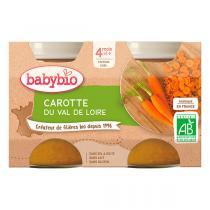 Babybio - Petit Pot Bébé Carotte dès 4mois 2 x 130g