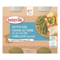 Babybio - Petit pots Menu Légumes Cabillaud 8 mois 2x200g
